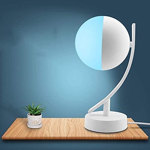 Palm kloset Lámpara de Mesa Lámpara de Mesa Elegante Blanca de la Luna del Dormitorio de la lámpara de Mesa del WiFi Simple de la Pintada LED