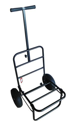 MDI Chariot de pêche pliable extra-plat à roues à pneumatiques