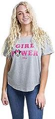 Disney Minnie Girl Power Camiseta, Gris (Sport Grey SPO), L para Mujer