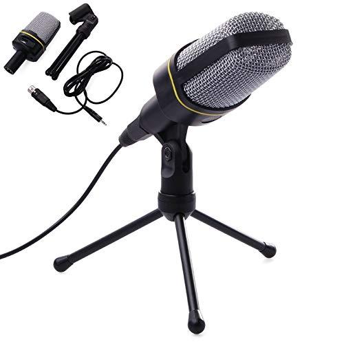 heaven2017 Microfone Condensador de 3,5 mm, com Suporte de Tripé