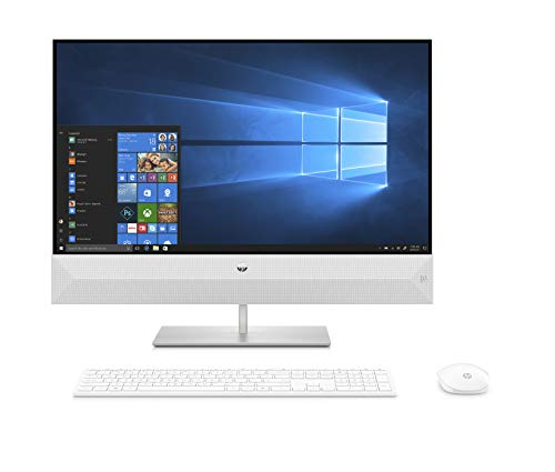 HP Pavilion 27-xa0019ng (27 Zoll / QHD Touch) All in One PC (Intel Core i7-9700T, 16GB DDR4 RAM, 2TB HDD, 512GB SSD, Nvidia GeForce GTX 1050 4GB GDDR5, Windows 10 Home) weiß