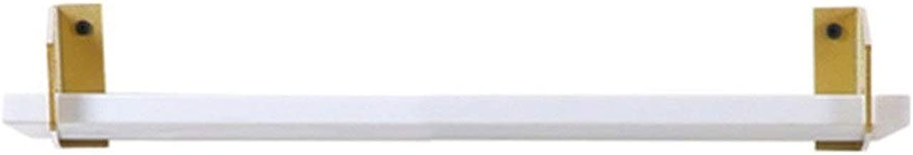 GuoWei Marble Wall-mounted Shelf Kitchen Storage Tray, 5 Sizes (Color : White, Size : 80x14.5cm)