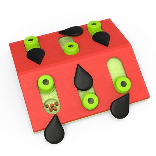 Nina Ottosson von Petstages Melon Madness Puzzle & Play - Leckerli-Denkspiel für Katzen - interaktiv