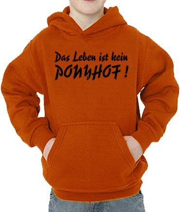 Touchlines Sweatshirt Das Leben ist kein Ponyhof Sweat-Shirt, Orange, 128 cm Mixte bébé