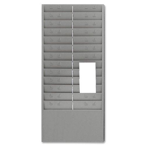 Steelmaster Stahl Zeit Rack mit verstellbare Trennwände, 15,2cm Taschen, 34,6x 76,2x 5,1cm, Gray (27012jtrgy)