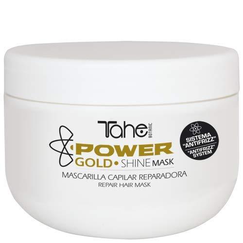 Tahe Shine Power Gold Mask Mascarilla Reparadora de Pelo Tratamiento Capilar Para Todo Tipo de Cabellos sin Parabenos ni Sulfatos ni Siliconas, 300 ml