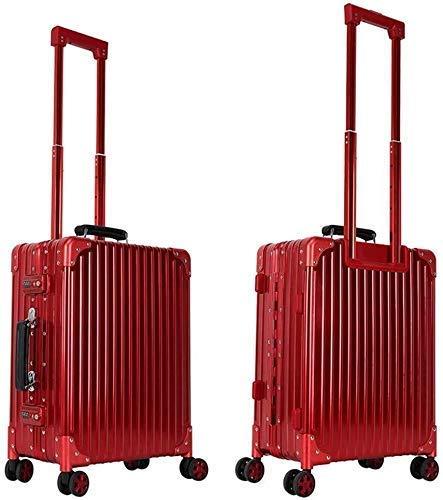 ALYR Professionelle Trolley Kosmetikkoffer, Trolley Schminkkoffer mit Räder Make-up Aufbewahrung Koffer Schminkkoffer Cosmetic Cases Organizer,Red