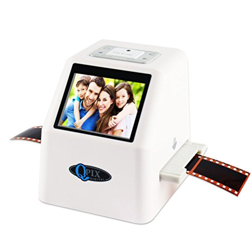 "Film Negative Scanner 22 MP 110 135 126KPK Super 8 Negative Photo Scanner 35mm Slide Film Scanner Digital Film Converter High Resolution 22MP 2.4"" LCD (White)"