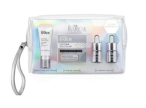 DOCTOR BABOR Lifting Set, mit Collagen Boost Infusion, Collagen Booster Cream und Eye Cream, gegen Falten, für glattere & festere Haut, 4 Teile