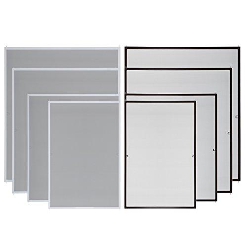 ESTEXO Fliegengitter für Fenster, Insektenschutz, Fenster, Alurahmen, Fliegenschutz, Mückenschutz, Gitter (80 x 120 cm, Weiß)