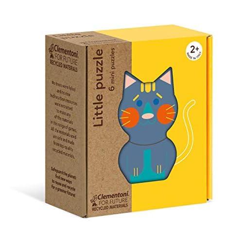 Clementoni - 16161 - Little Puzzle - Piccoli Animali, puzzle animali, 6 puzzle bambini 2 anni - materiale 100% riciclato - Play For Future - Made in Italy