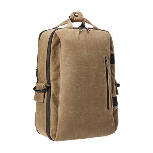 Amazon Basics – Mochila vintage para cámara profesional DSLR y portátil, tela encerada, marrón