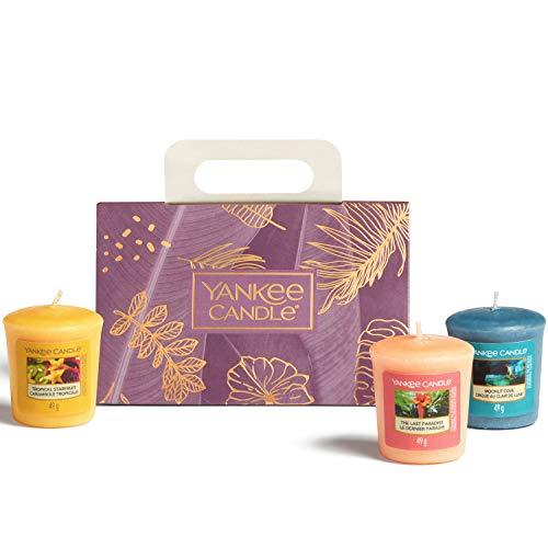 Yankee Candle - Set regalo con 3 candele votive profumate, collezione The Last Paradise, ideale per la festa della mamma