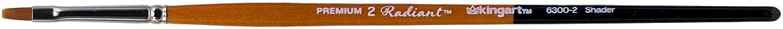 KINGART 6300-2 TAKLON Shader Paint Brush, 2, Black/Silver/Orange