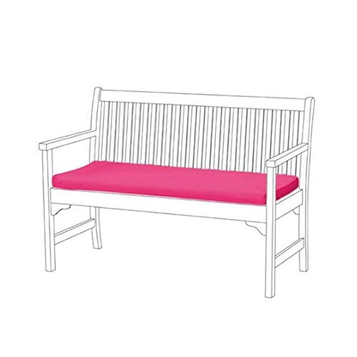 Gardenista Garden Bench Patio Pad | Bench Furniture Outdoor 2 Seater Cushion | Water Resistant Material | Comfortable Durable and Lightweight (Pink)
