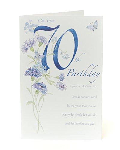 Lovely Vers 70. Geburtstag Karte–Ein Gedicht von Helen Steiner Reis