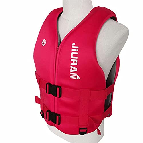 LLDMZ Chalecos salvavidas para adultos, chaleco salvavidas para natación, kayak, remo, tabla salvavidas, chaleco salvavidas, para kayak, pesca, surf, buceo, deportes acuáticos, rojo, XL
