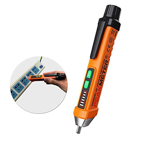 Preisvergleich Produktbild Digital Berührungsloser Spannungsprüfer 12-1000V Spannungstester Durchgangsprüfer Strom Detektor Stromprüfer mit LED-Taschenlampe