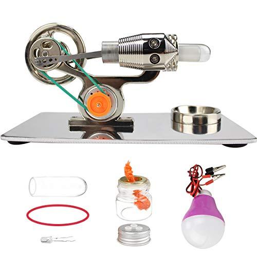 スターリングエンジン モーター 発電機 モデル 熱気スターリングエンジン モーターモデル 電気発電機 物理学実験 知育玩具 教育玩具 実験器材 誕生日 プレゼント