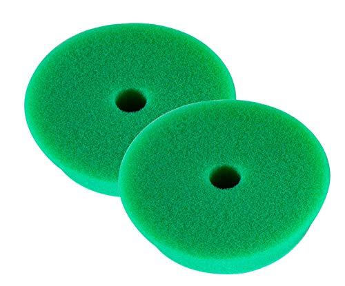 RUPES 2X Polierpad Medium Polierschwamm Polierscheibe grün mittel 130-150 mm