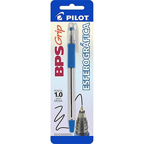 Caneta Esferográfica, Pilot, Bps-Grip-M, 1.0 mm, Azul