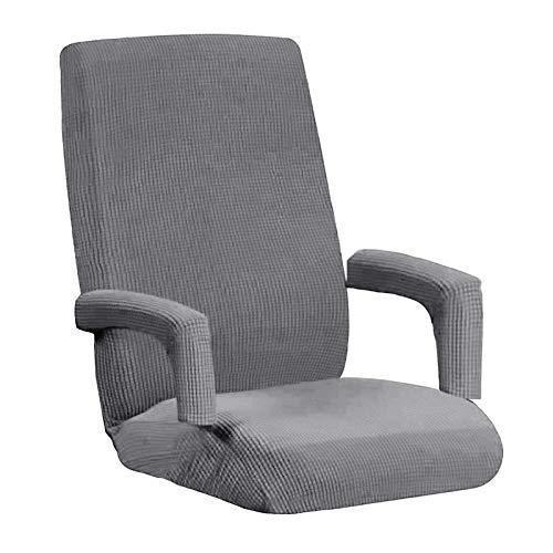 #N/a Stretch casa Oficina silla cubierta dividida funda de ordenador de escritorio tarea fundas de asiento - Gris L