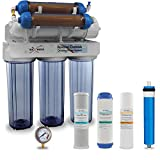 Max Water 6 Stage Aquarium Reverse Osmosis System/Reverse Osmosis System/RO Water Filtration System with Deionization Filter RO Water Purifier 100 GPD Hydroponics RODI System