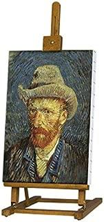 "Van Gogh Tabletop Artist Easel 29-38"" Tall Folding H-Frame Wood Studio & Display Easel - Oiled Natural Beechwood Finish"
