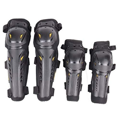 GYJ Motorrad-Knieschützer, verstellbare Fahrrad-Schutzausrüstung, Ergonomie-Design für Motocross-Fahrrad-Skate-Skateboard-Ellbogen-Schienbeinschutz Erwachsener