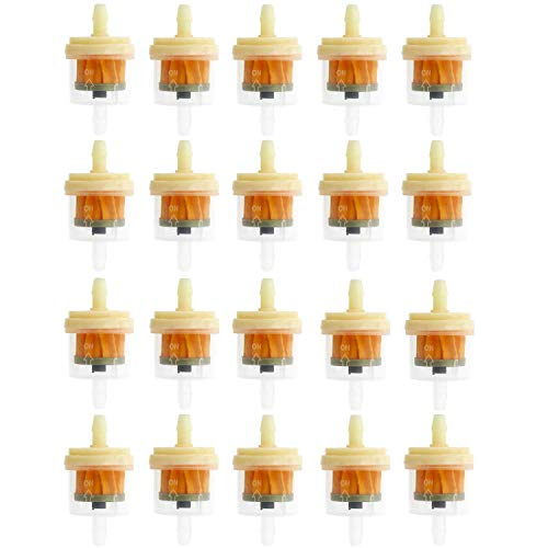 MinTerest 20Pcs Gas Inline Fuel Filter Universal Gas Fuel Filter with Magnet for ATV Motorcycle 1/4
