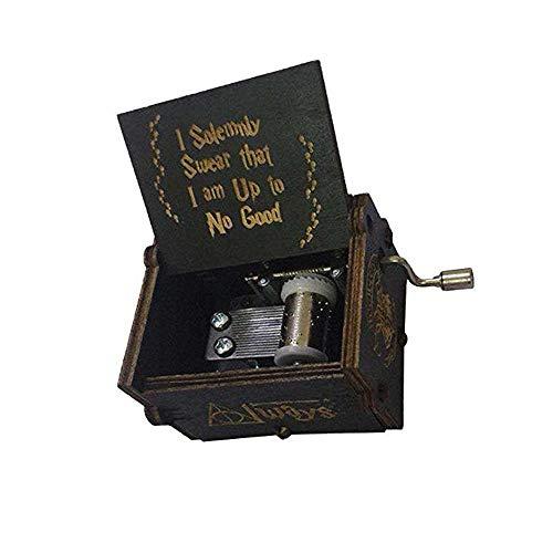 Puro Mano clásico Caja de música Caja de música de Madera a Mano artesanías de Madera Creativa Mejores Regalos
