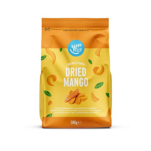Marque Amazon - Happy Belly Mangue déshydrathée, 500 g