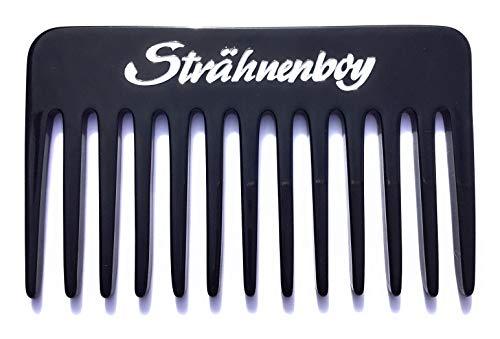 Strähnenboy schwarz silber handgemacht 10 cm 13 Zinken Lockenkamm Strähnenkamm Afrokamm grobe Zahnung (10)