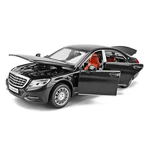 WCZ Lernspielzeug, Fernsteuerungsauto-Spielzeug, Modellauto 1.32 Mercedes Benz Modell Maybach S600 Alloy Simulation Auto-Modell-Jungen-Kind-Spielzeug-Auto-Static-Auto-Modell 14.5X5.5X4.5Cm Model Car