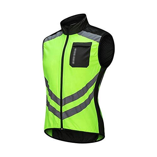 XEPAJS Hommes Extérieur Cyclisme Gilet de Moto, Léger Blouson Sport T-Shirt sans Manches Respirant Veste avec Tissu Imperméable, Vetement Jacket Racing Motocross Pêche (M-3XL, 3 Couleurs)