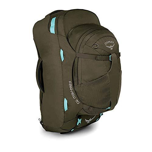 Osprey Fairview 70 Reisetasche für Frauen, mit abnehmbarem 13-Liter-TagesrucksackReisetasche für Frauen, mit abnehmbarem 13-Liter-Tagesrucksack - Misty Grey (WS/WM)