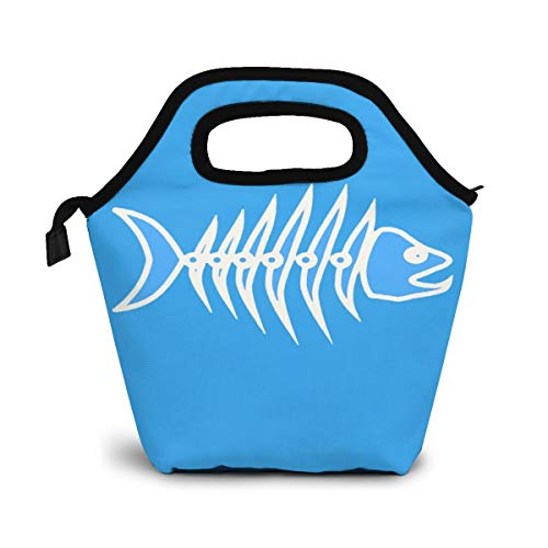 Fish Bone Skeleton Line Premium Lunch Box, Insulated Lunch Bag for Men Women Adult Teenagers Children