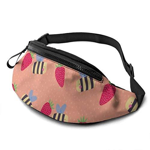 Ahdyr Bee5 Sport Waist Bag Pack,Fitness Exercise Belt Bags Business,Verstellbarer Gurt mit Kopfhörer-Reißverschluss für Laufen im Fitnessstudio,Reisen,Wandern,Camping