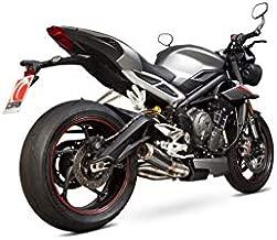Motodak - Silenciador Scorpion RP1-GP de Carbono, con Tapa de Titanio Triumph Street Triple 765