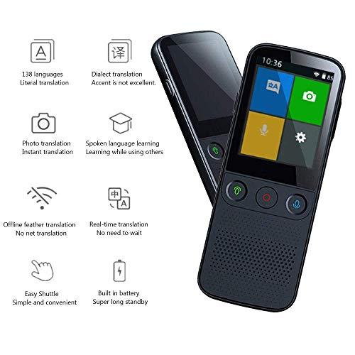 Übersetzer,Sprachübersetzer-Gerät Tragbare Sprachübersetzer-Unterstützung WiFi/Hotspot/Offline-Übersetzer-Gerät Zwei-Wege-Echtzeit-Übersetzer 2,4-Zoll-Touchscreen-Kameraübersetzung