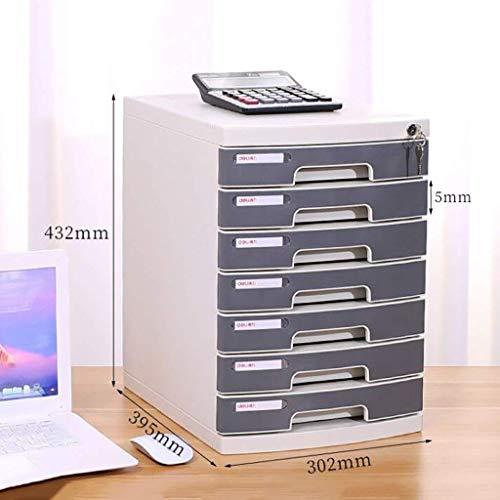 Platte platte map voor kantoor opbergbox meubels archief 6/7 laden, met vergrendeling hoge capaciteit voor A4-bestanden 2