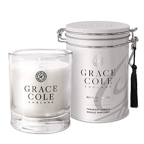 Grace Cole White Nectarine & Pear Candle 200g