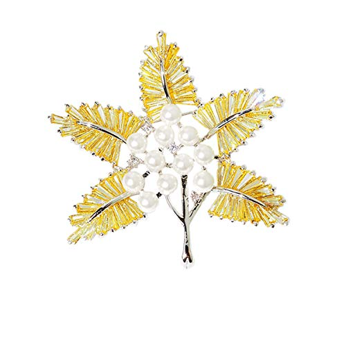 Nosterappou Un broche que se puede usar como un colgante, mano de obra exquisita pulido de 360 grados, abrigo abrigo decoración personalizada pin de moda, accesorios correspondientes, broche de hoja