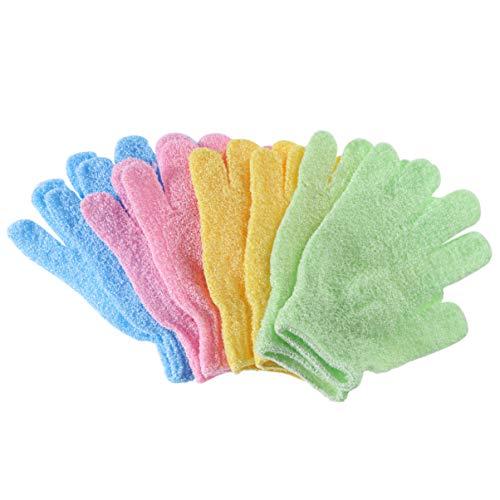 Healifty 4 Paar Bad Peeling Handschuh Handschuh Bad Hocker Scrubber Bürsten Schwamm Peeling Pad