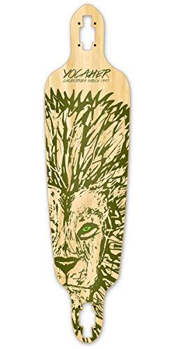Yocaher Spirit Animal Drop Through Longboard Deck - Lion