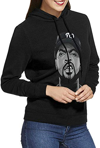 NWA Ice Cube Woman'S Long Sleeve Hooded Sweatshirt Tops Casual Sport Pullover Sweater Pullover Hoodies,L
