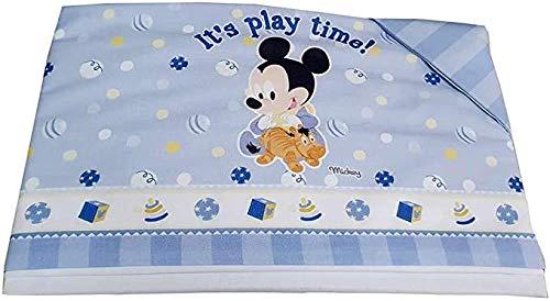 3 Pz - Set Lenzuola Carrozzina Neonato Disney Baby 100% Cotone | Corredino Nascita Completo Lenzuola Culla Neonato con Federa Cuscino | Lenzuolini Lettino Neonato per Culle/Carrozzine (Play Time)