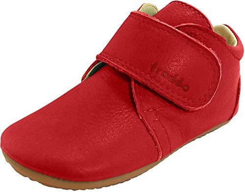 Froddo Leder Babyschuhe Hausschuhe Gummisohle, Red, 20 EU