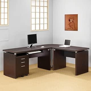 coaster company skylar collection computer desk cappuccino