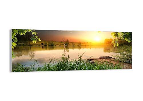 Bild auf Glas - Glasbilder - Einteilig - Breite: 140cm, Höhe: 50cm - Bildnummer 3914 - zum Aufhängen bereit - Bilder - Kunstdruck - GAB140x50-3914